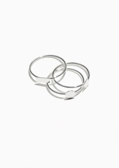 & Other Stories Trio Rings in Silver