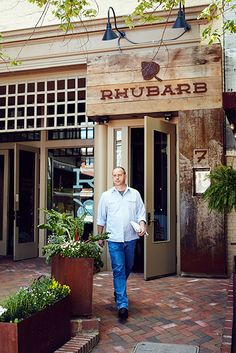 Photo Credit: William Hereford. Fleer outside of his restaurant in Asheville, North Carolina.....formerly the chef at blackberry farm.tn