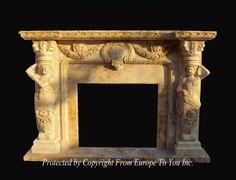 A wonderful marble fireplace mantel created for your home or office.