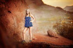 Senior Portrait photography at Papago park located in Phoenix, AZ near Scottsdale
