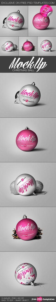 Free Christmas Ball Mockup (145 MB) | free-psd-templates.com | #free #photoshop #mockup