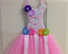 Tutu Vestido de pelo arco titular lavanda rosa por CutiesBoutique