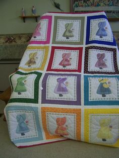 Dutch Girl Quilt by CedarvilleGiftShop on Etsy. $330.00, via Etsy. wish my mammy had been able to make one of these for my girls!