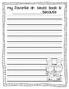 free dr. seuss writing paper