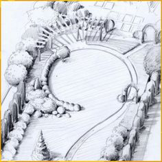 10 Small Garden Plans Ideas, Most Incredible and also Lovely Landscape Architecture Drawing, Landscape Design Plans, Garden Design Plans, House Landscape, Small Garden Plans, Garden Illustration, Garden Planning, Garden Landscaping, Garden Pool