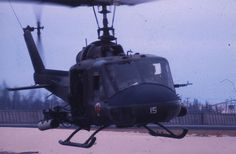 VMO-2 (The Angry Two) Huey Gunship Arrives Back at Marble Mountain 1968