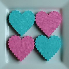 cute paper hearts for table decorations