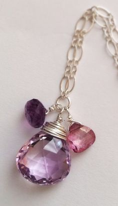 Faceted Amethyst Pink Mystic Quartz Sterling
