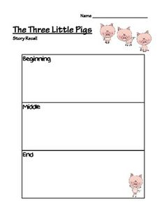 The Three Little Pigs Comprehension Activities
