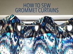 Say bye-bye to store-bought curtains. Instead, sew your own delightful grommet curtains for an elegant decor accent that's all our own!