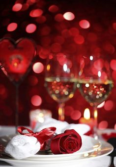 Valentine's day dinner for two at home is so much more intimate and romantic. I never like being in a restaurant on Valentine's Day.