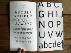 Anivers - Type specimen booklet by Nancy Schokkenbroek, via Behance