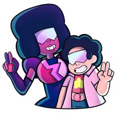 Steven's birthday aired in January and guess what birthstone is associated with January…Garnet! Steven S, Cool Glasses, Digimon, Steven Universe, Smurfs, Beast, Pokemon, Nerd, Geek Stuff