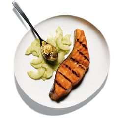 The cucumber salad calls for shichimi togarashi, or ''seven-spice blend.'' (Photo: Tom Schierlitz for The New York Times)