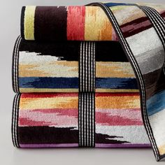 """""""Homer"""" Bath Towels by Missoni Home. Neat towels. very southwest looking"""
