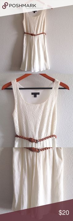 Sleeveless dress Worn once briefly for family photos. Perfect condition. Belt included. City Triangles Dresses