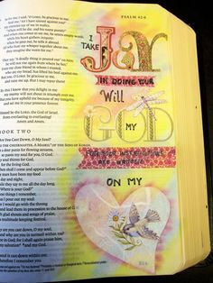 Bible journaling Psalm 42, draw in your Bible