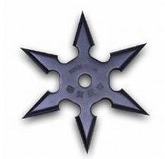 Black Kohga Ninja Throwing Star - 6 Points w/ Etching