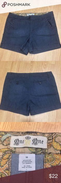 Plus Size Dress Denim Shorts Lightweight Denim type fabric. With a  nice cuffed hem. Shorts Jean Shorts