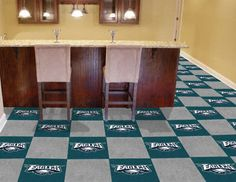 "Really want these carpet tiles for my husband's future Man Cave-Philadelphia Eagles NFL Carpet 18""x18"" Tiles"