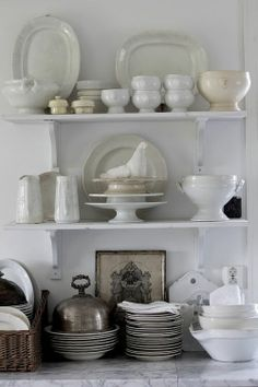 Styling open shelves