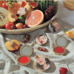 --- Take a layer beauty makeup series orange red package full of summer's small fresh atmosphere~ K Beauty, Beauty Make Up, 3ce, Shea Butter, Serving Bowls, Layers, Take That, Fruit, Tableware
