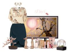 """Cherry Blossoms"" by duci ❤ liked on Polyvore featuring WALL, Dorothy Perkins, Topshop, Gianvito Rossi, Shaun Leane, Nearly Natural, Casetify, Maybelline, Neiman Marcus and Lime Crime"