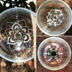 More wine glasses finished! Stay updated with for-sale and custom products just like these via my Facebook page (linked in bio). Thanks for stopping by!  #wildermissglass #glass #carving #engraving #etch #etching #dremel #mandala #flower #elegant #handcarved #business #desert #California #highdesert #SoCal #custom #dremelmaker #wineglass #wine #leaf