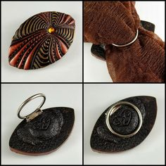 2 Good Claymates: How to Attach a Scarf Clip Ring to a Polymer Clay Art Piece