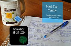 Darcie's Dishes: Meal Plan Monday: 11/14-11/20/16 ~ A seven day meal plan that is 100% Trim Healthy Mama compliant. The meal plan and shopping list are printable for your added convenience.