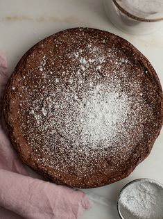 Chocolate Cardamom Meringue Cake