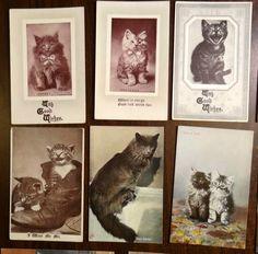 Lot of 15 Antique Cat Postcards CUTE CATS & KITTENS! | eBay