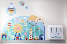 Illustrator Emily Golden, from Bristol, was commissioned by Fresh Arts, the ongoing arts programme at North Bristol NHS Trust, and Willis Newson to help transform the new children's minor injuries unit at Southmead Hospital Creative Review, Art Programs, Viera, Bristol, Kids Rugs, The Unit, Children, Illustration, Cities