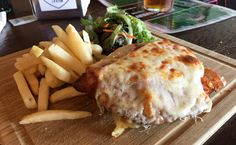 Chicken parma from The Newmarket Tavern, Flemington