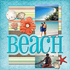 "Ideas for Scrapbookers: New ""Beach"" Template!"