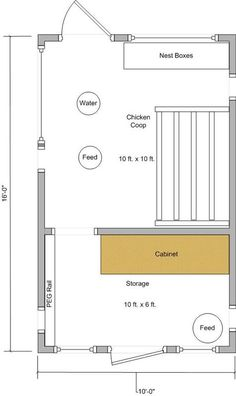 I like this plan.  Nice room on the floor for the chickens to scratch around/feed during the winter.  And a back door that opens for ventilation (put a screen on?)  Excellent plan.