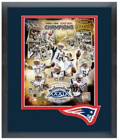 New England Patriots- 3 Time Super Bowl Champions 2004 Super Bowl Composite