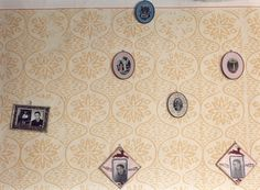 Wall decorated with patterned paint rollers | Traditional European rural interiors, Hungary | Martin Rosswog Photography