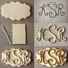 Monogram -- make these with salt dough!