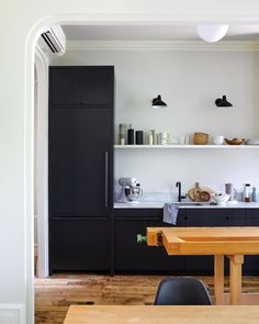 "2,130 Likes, 20 Comments - Remodelista (@remodelista) on Instagram: ""LOVE THE LIGHTS & THE FRIDGE THAT MATCHES THE CABINETS"