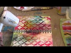 "Beautiful start to finish video!  ""A Work in Progress"" Art Journal Page"