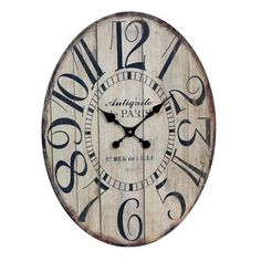 American Mercantile Wood Oval Clock