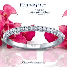 Clean and simple. Always a winner! See morelink in bio.❤️  .  Flyerfit match to style DERM4XSP  .  #martinflyer #flyerfitbymartinflyer #wedding #weddingband #love #ido #engaged #perfectmatch #diamonds
