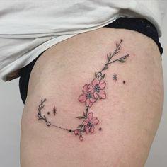 Floral Scorpio Constellation Tattoo | Boho Princess Scorpio Zodiac Tattoos, Scorpio Constellation Tattoos, Gemini Flower, Piercing Tattoo, Piercings, Zodiac Signs Colors, Life Tattoos, Tatoos, Tattoo Designs