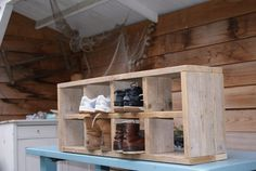 Steigerhouten schoenenrek | Meubels | Wonen met Puk