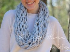 Choose Your Color! - The Georgian Infinity - A Medium-Thick, Wide-Knit, Single-Wrap Infinity Scarf With a Twist - pinned by pin4etsy.com