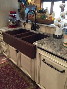 Dream sink!!! Picture of Jumbo Triple Well Copper Farmhouse Sink  #LGLimitlessDesign #Contest