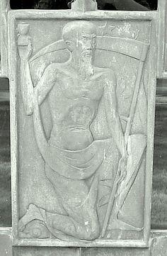 Wilson Mausoleum bronze doors. The panels were designed by Corrado Parducci.