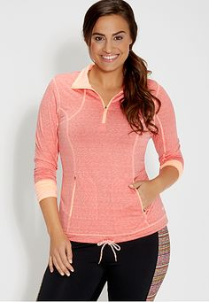 plus size spacedye pullover (original price, $44) available at #Maurices