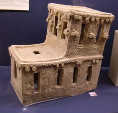 Mesopotamian spirit house.  2600 BC  Egyptian Museum of San Jose,California